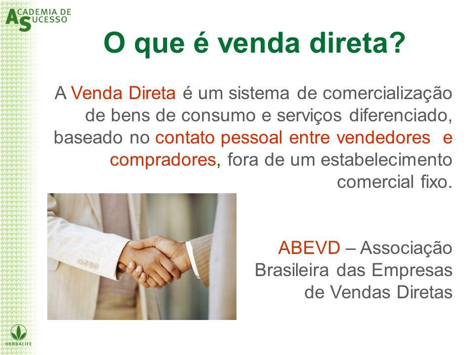 A Venda Direta é um sistema de comercialização de bens de consumo e serviços diferenciado, baseado no contato pessoal entre vendedores e compradores,