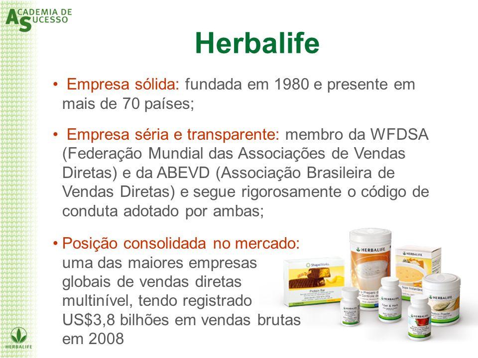 Empresa sólida: fundada em 1980 e presente em mais de 70 países; Empresa séria e transparente: membro da WFDSA (Federação Mundial das Associações de V