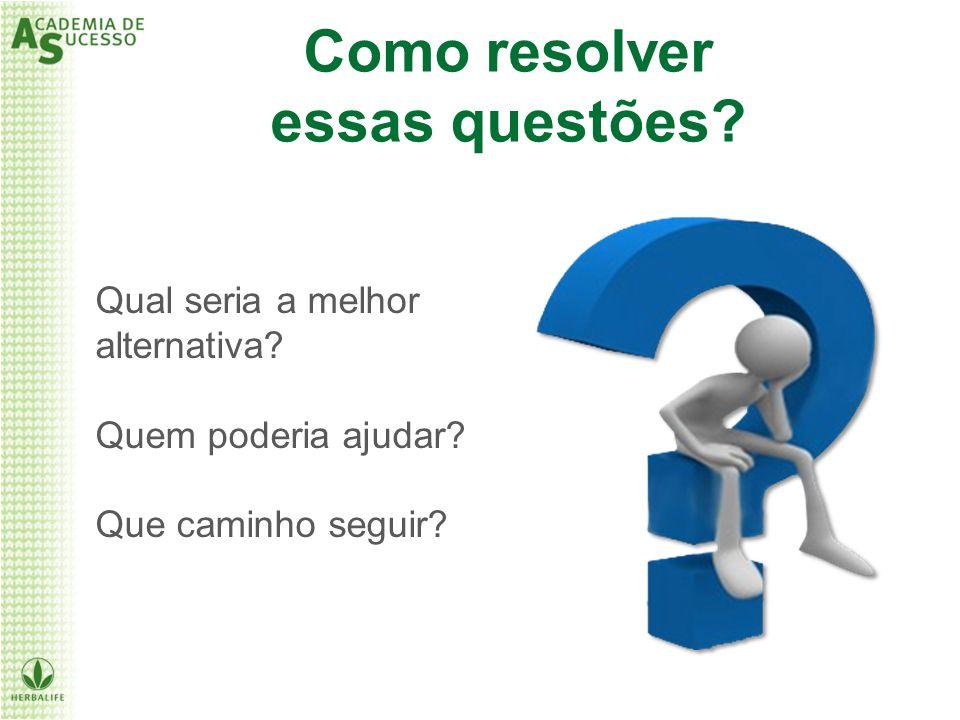 Qual seria a melhor alternativa? Quem poderia ajudar? Que caminho seguir? Como resolver essas questões?