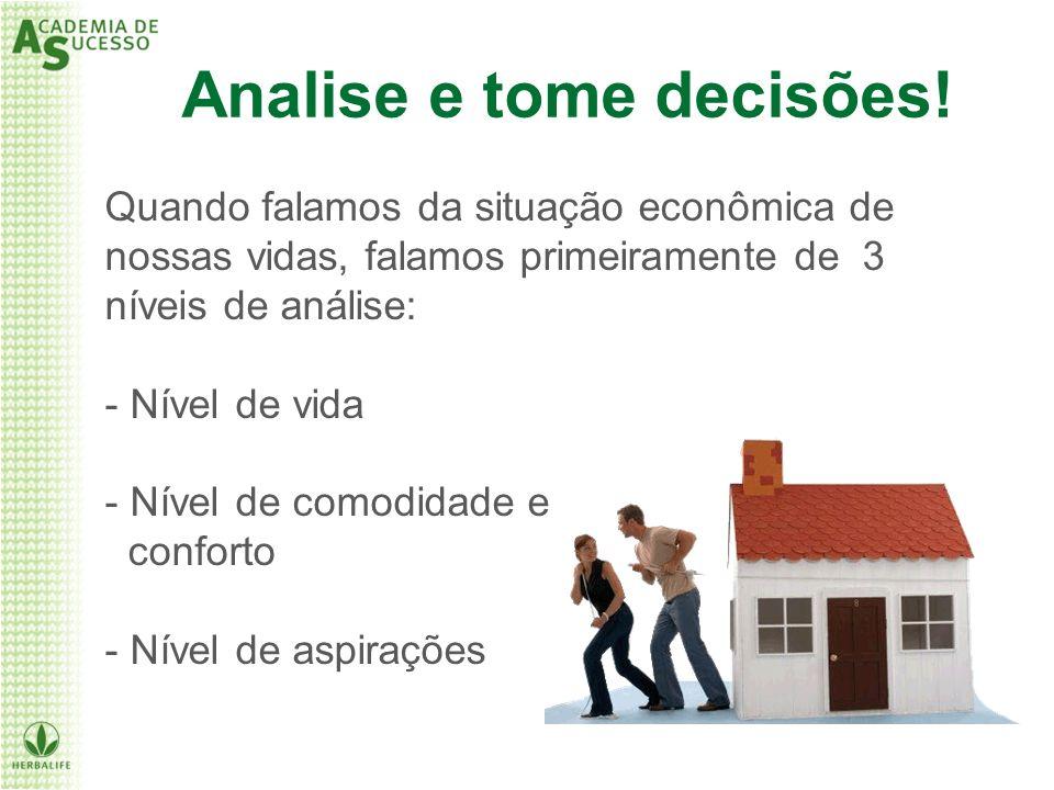Quando falamos da situação econômica de nossas vidas, falamos primeiramente de 3 níveis de análise: - Nível de vida - Nível de comodidade e conforto -