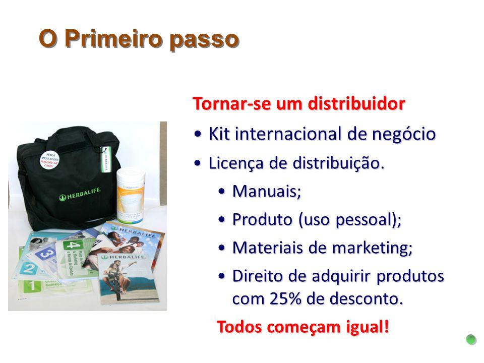 Tornar-se um distribuidor Kit internacional de negócioKit internacional de negócio Licença de distribuição.Licença de distribuição. Manuais;Manuais; P