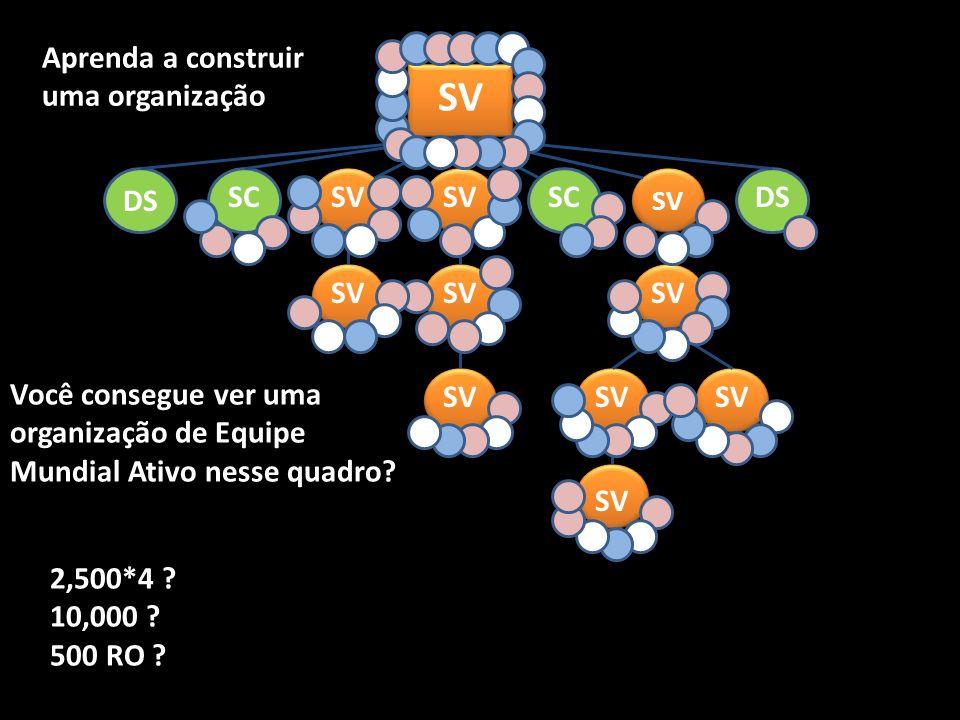 SV SCDSSC SV DS Você consegue ver uma organização de Equipe Mundial Ativo nesse quadro.
