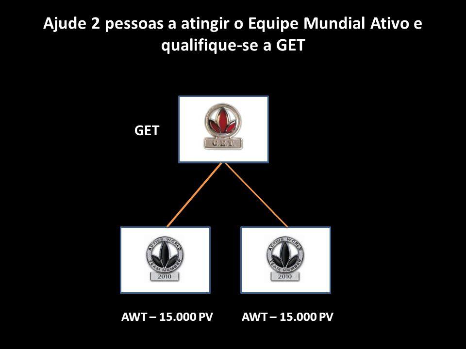 Ajude 2 pessoas a atingir o Equipe Mundial Ativo e qualifique-se a GET GET AWT – 15.000 PV