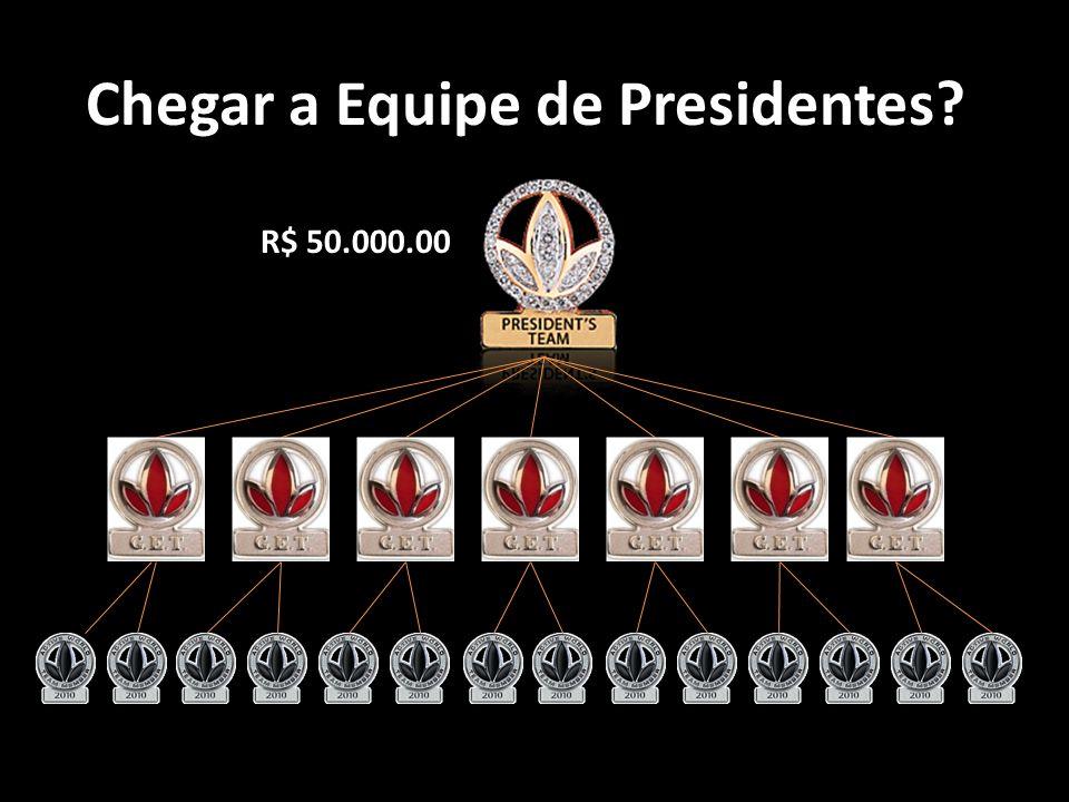 Chegar a Equipe de Presidentes? R$ 50.000.00