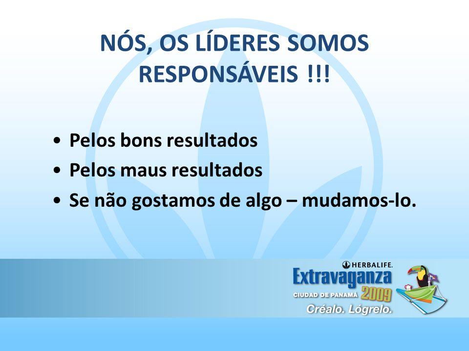 NÓS, OS LÍDERES SOMOS RESPONSÁVEIS !!.