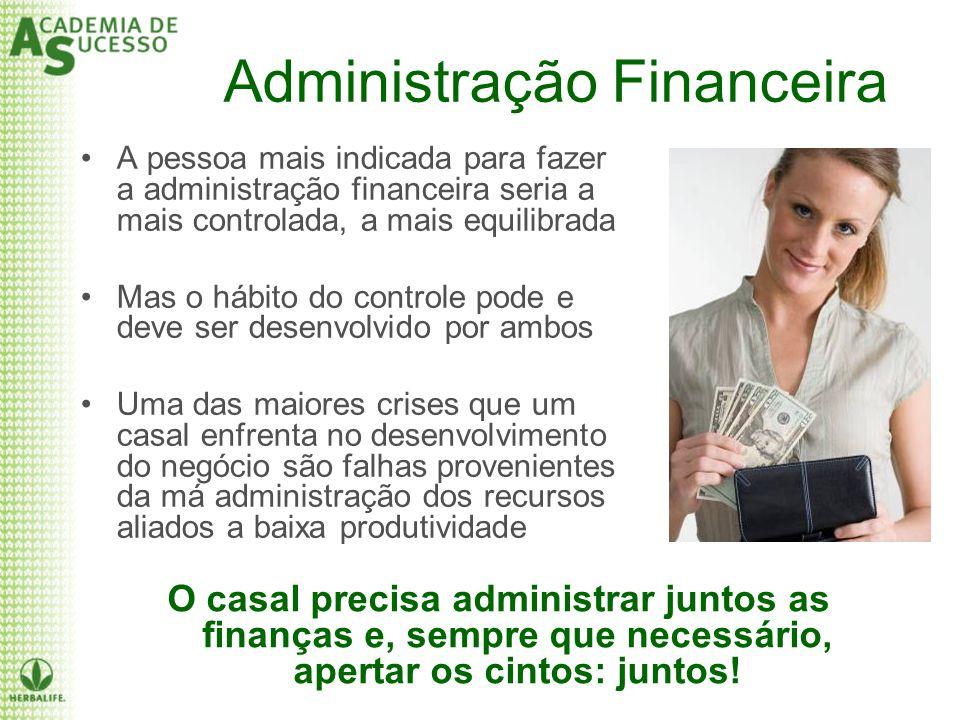 Administração Financeira A pessoa mais indicada para fazer a administração financeira seria a mais controlada, a mais equilibrada Mas o hábito do cont