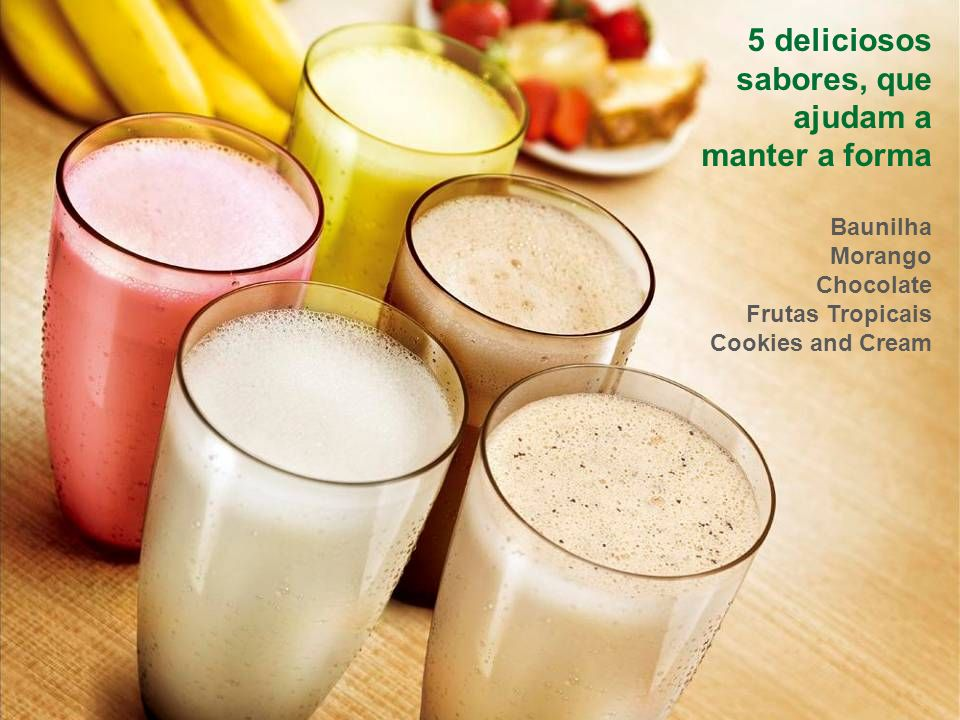 5 deliciosos sabores, que ajudam a manter a forma Baunilha Morango Chocolate Frutas Tropicais Cookies and Cream