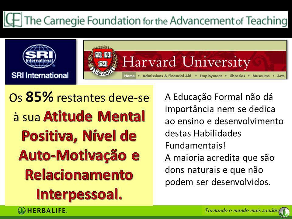 A Educação Formal não dá importância nem se dedica ao ensino e desenvolvimento destas Habilidades Fundamentais.