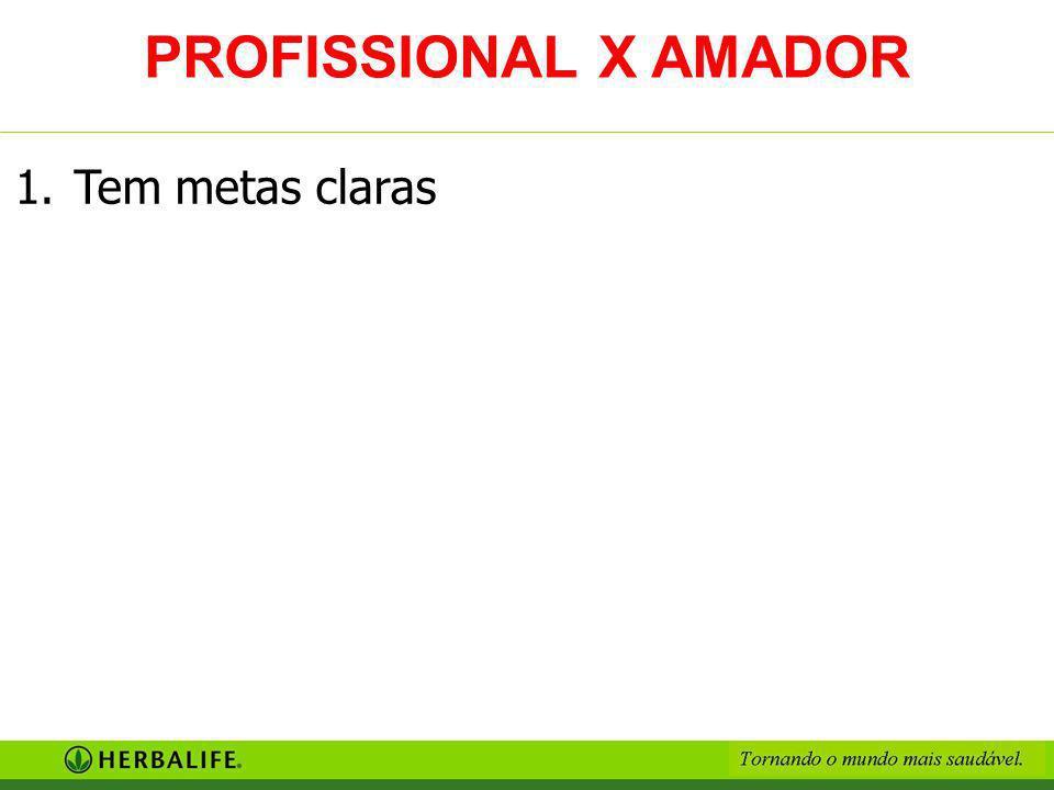 1.Tem metas claras PROFISSIONAL X AMADOR