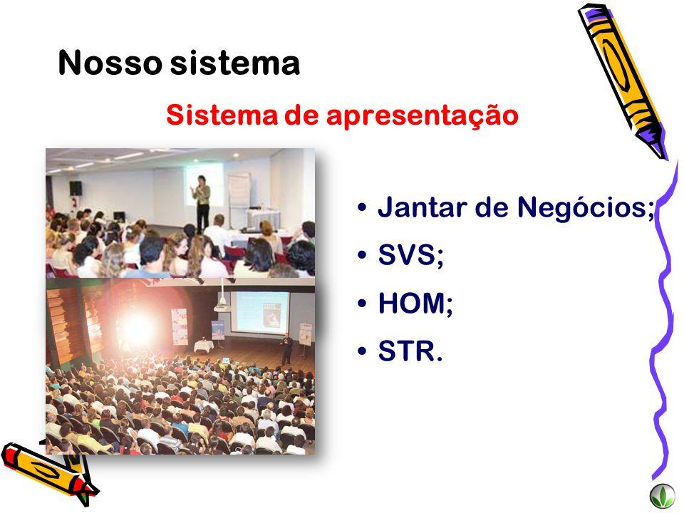 Sistema de treinamento UniÊxito; Fim de Semana de Liderança ; Encontro de Líderes; Extravaganza; Super Meeting.