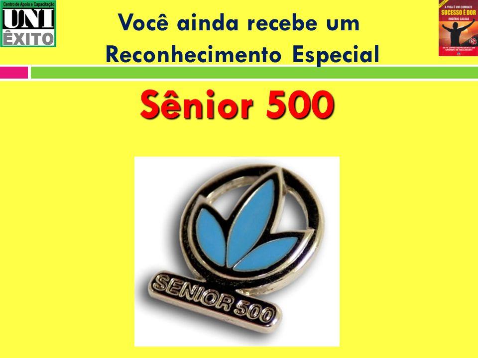 Você ainda recebe um Reconhecimento Especial Sênior 500