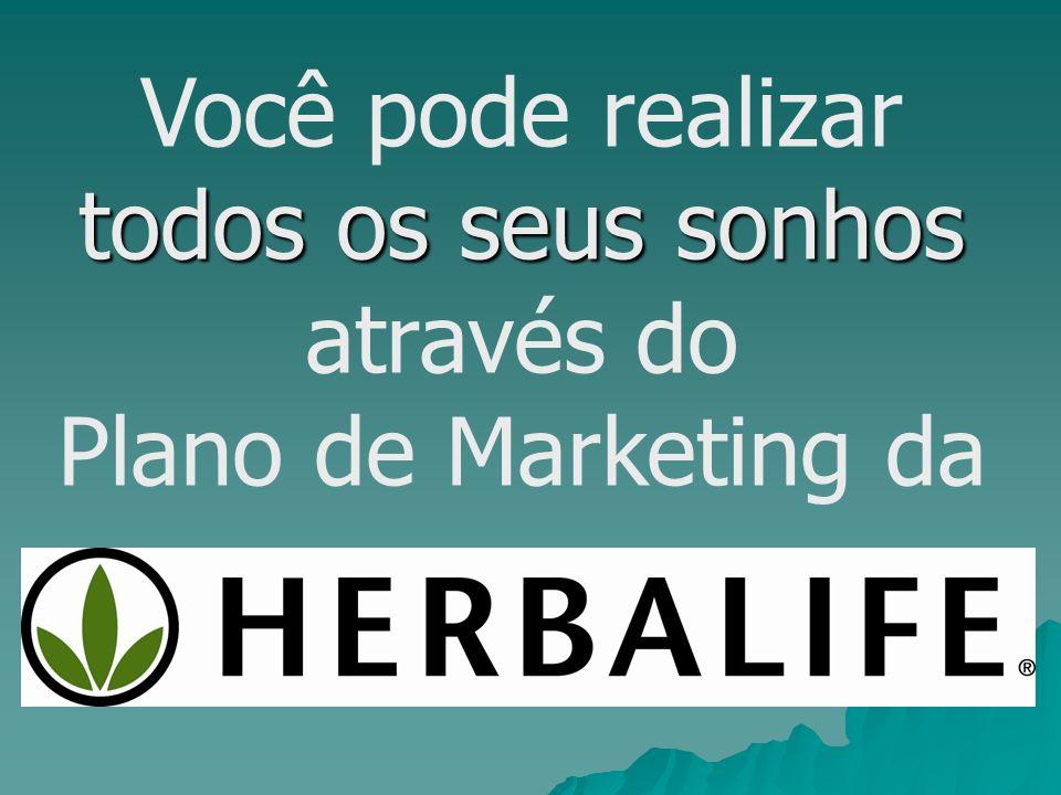 todos os seus sonhos Você pode realizar todos os seus sonhos através do Plano de Marketing da