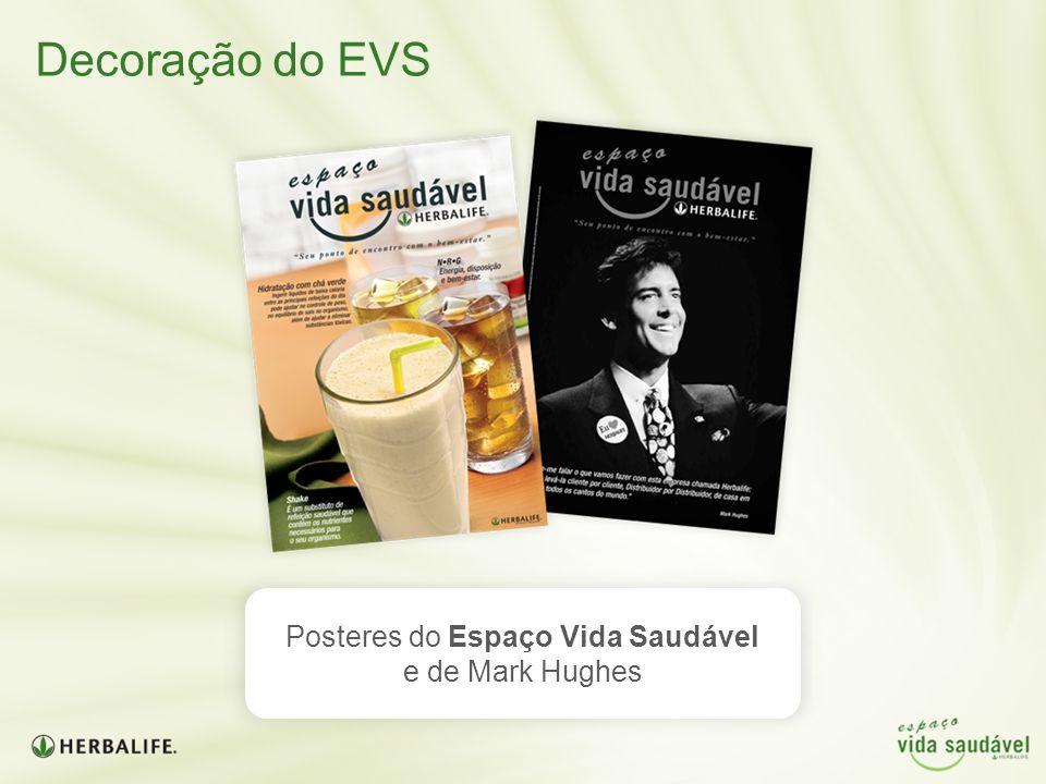 Decoração do EVS Posteres do Espaço Vida Saudável e de Mark Hughes