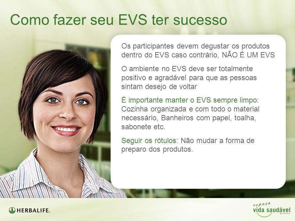 Os participantes devem degustar os produtos dentro do EVS caso contrário, NÃO É UM EVS O ambiente no EVS deve ser totalmente positivo e agradável para