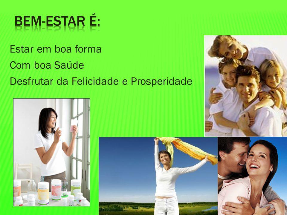 Estar em boa forma Com boa Saúde Desfrutar da Felicidade e Prosperidade