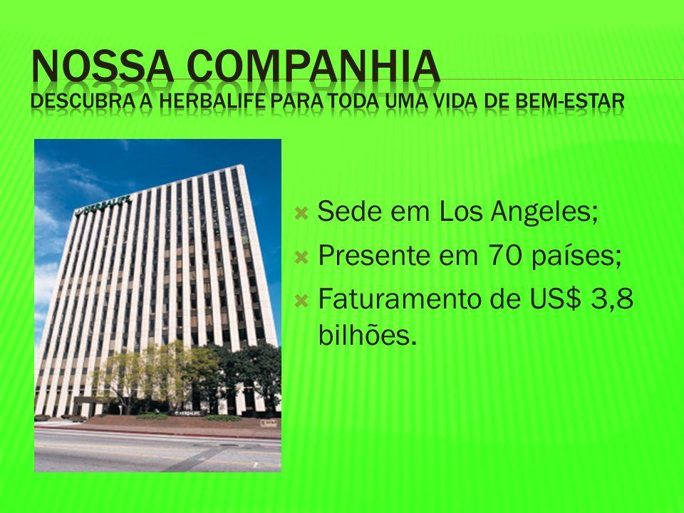 Sede em Los Angeles; Presente em 70 países; Faturamento de US$ 3,8 bilhões.