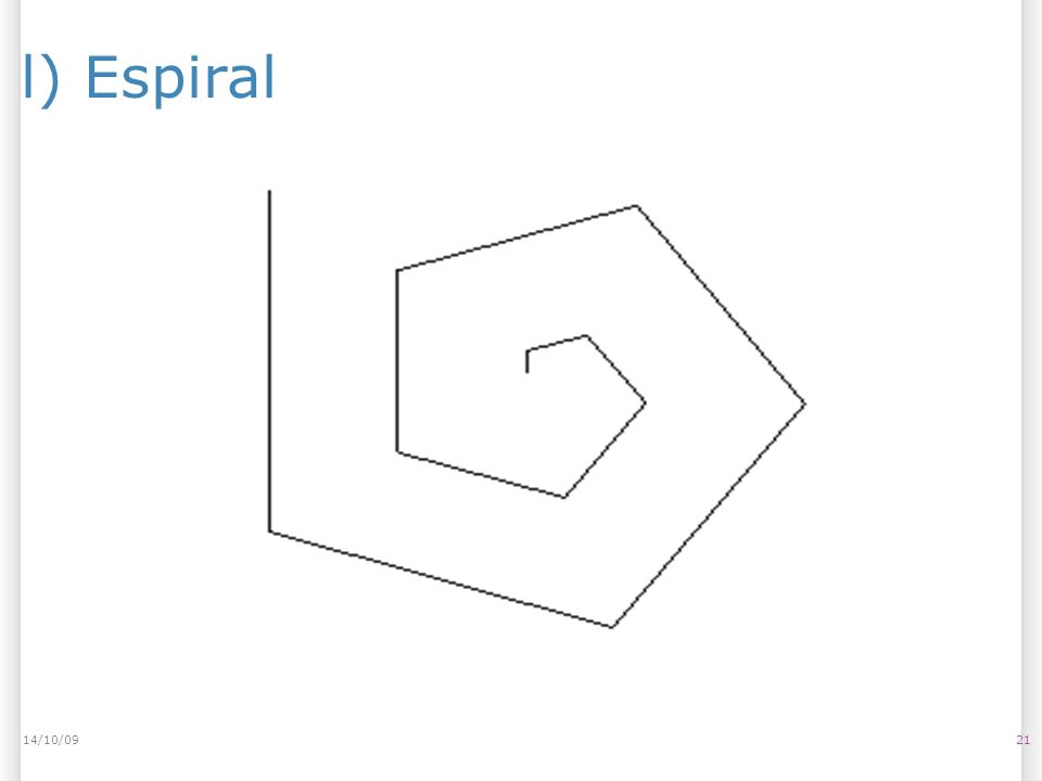 l) Espiral 2114/10/09