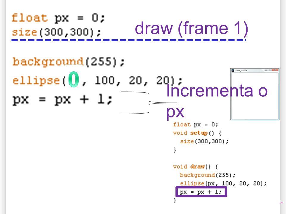 14 draw (frame 1) Incrementa o px