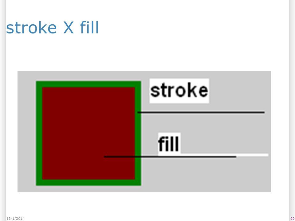 2013/1/2014 stroke X fill