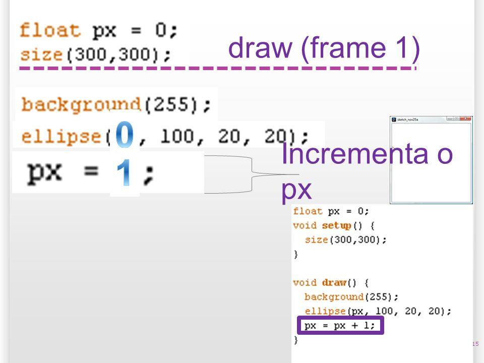 15 draw (frame 1) Incrementa o px