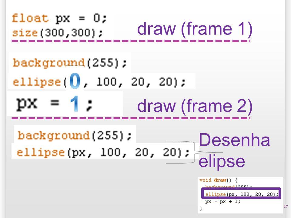 17 draw (frame 1) Desenha elipse draw (frame 2)