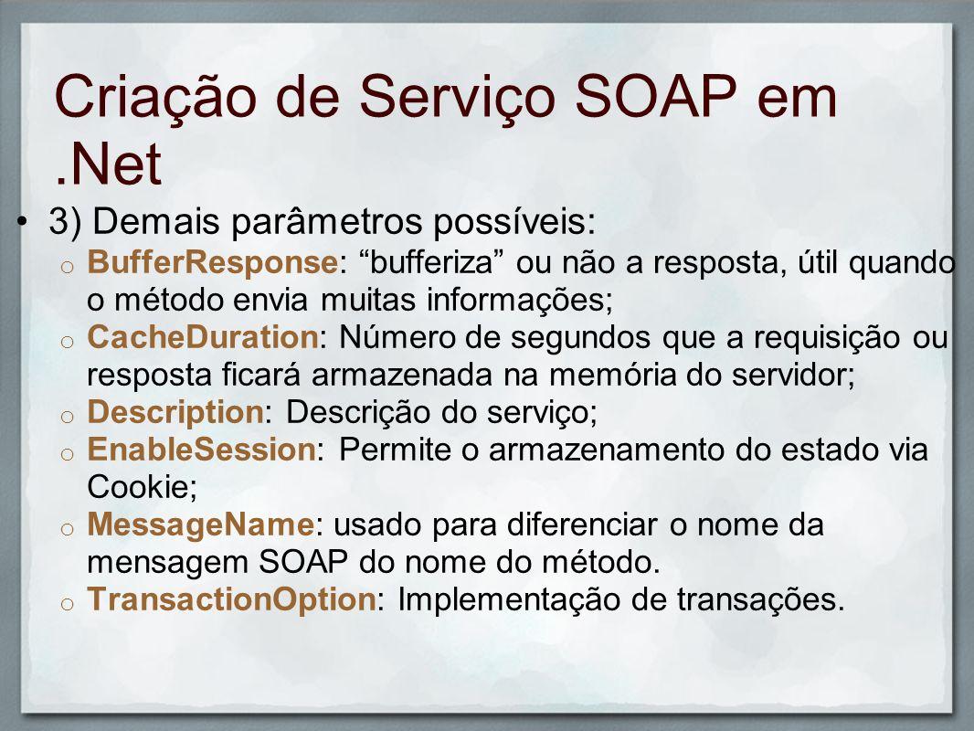 Consumo de Serviço SOAP em.Net 1) Em um projeto já existente, selecione o projeto e selecione o menu Add Web Reference; 2) Cole o endereço do arquivo WSDL; Na PUCPR, muitas vezes você precisará salvar o arquivo WSDL antes.