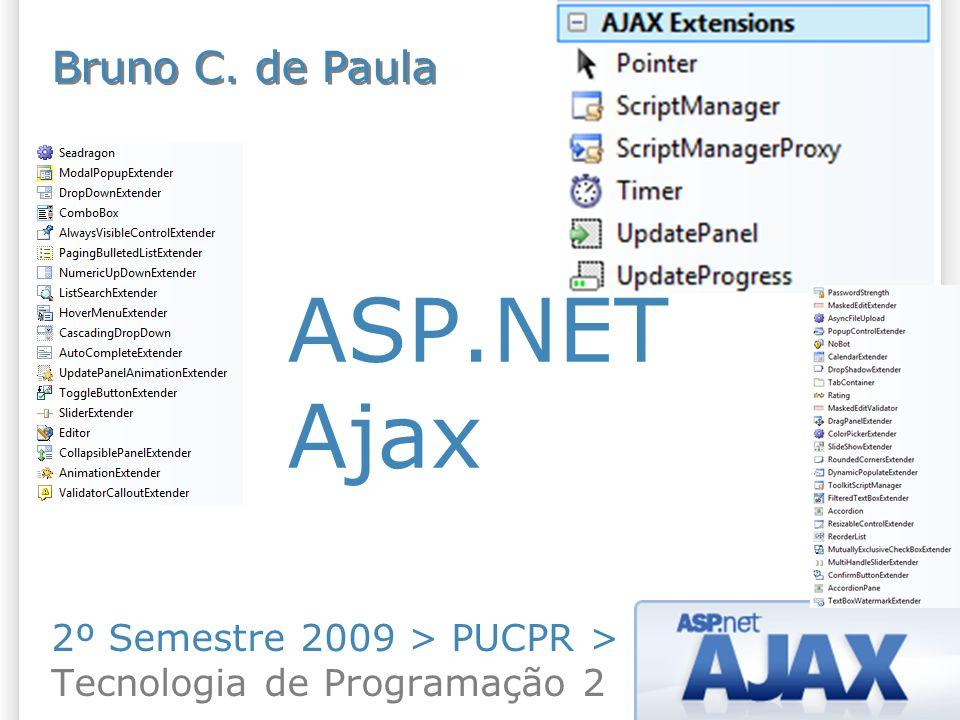 ASP.NET Ajax 2º Semestre 2009 > PUCPR > Tecnologia de Programação 2 Bruno C. de Paula