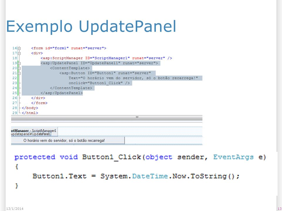 Exemplo UpdatePanel 1313/1/2014