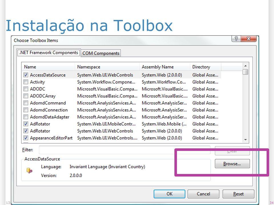 Instalação na Toolbox 3413/1/2014