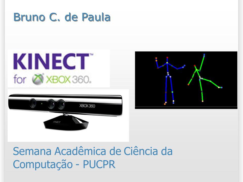 1)Instalação do Sensor O Kinect que vem no Bundle do XBOX não tem o cabo de energia (pode ser comprado a parte); Não coloque 2 Kinects ou 2 câmeras no mesmo hub USB; Verifique a versão do Windows (64 / 32 bits).