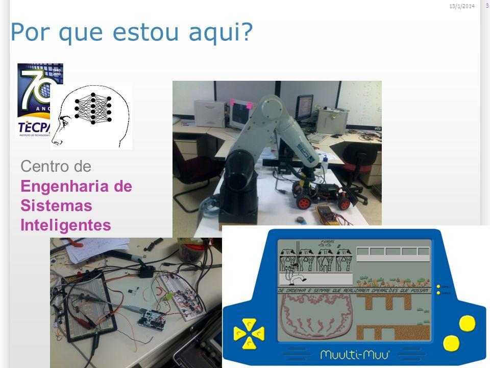 Aplicações e possibilidades do Kinect Controle de dispositivos através das mãos (Minority Report); 44 13/1/2014