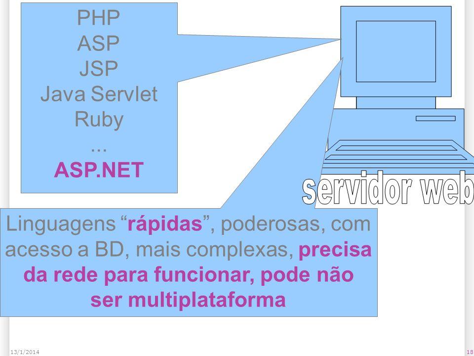 1813/1/2014 PHP ASP JSP Java Servlet Ruby...