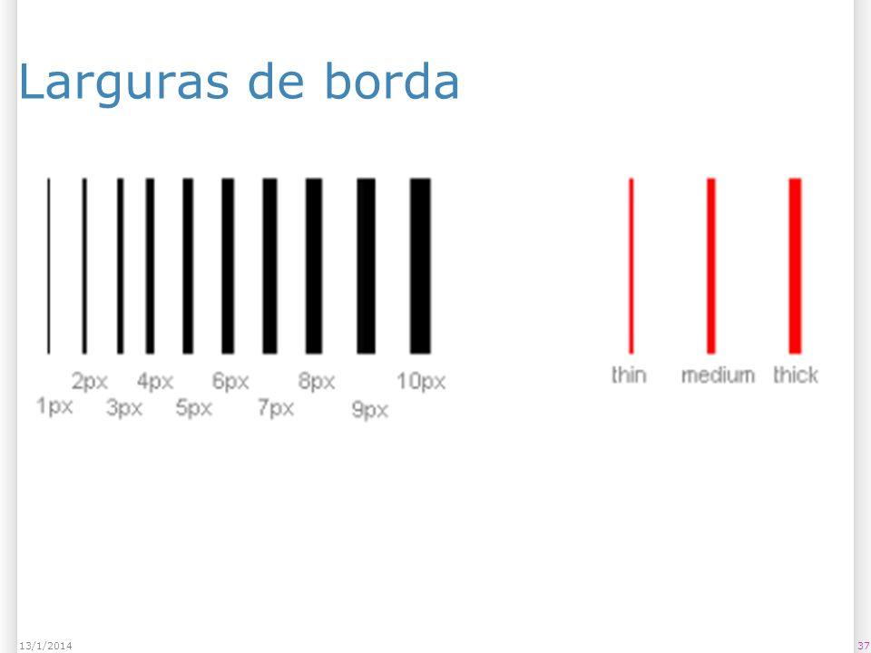 Larguras de borda 3713/1/2014