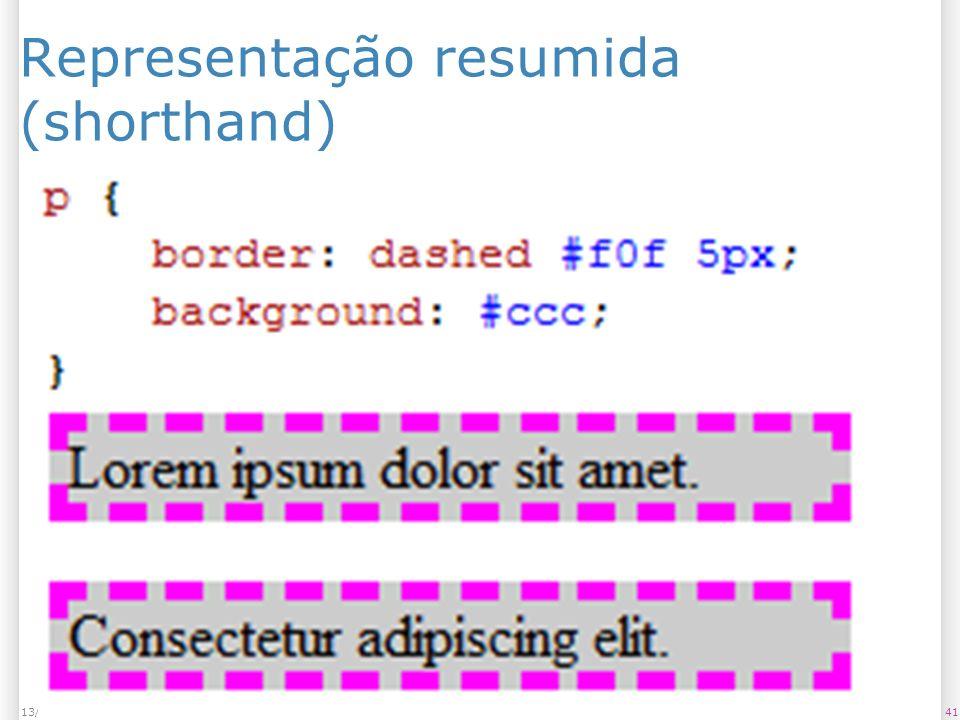 Representação resumida (shorthand) 4113/1/2014