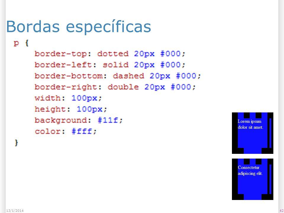 Bordas específicas 4213/1/2014