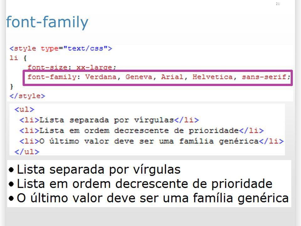 21 font-family