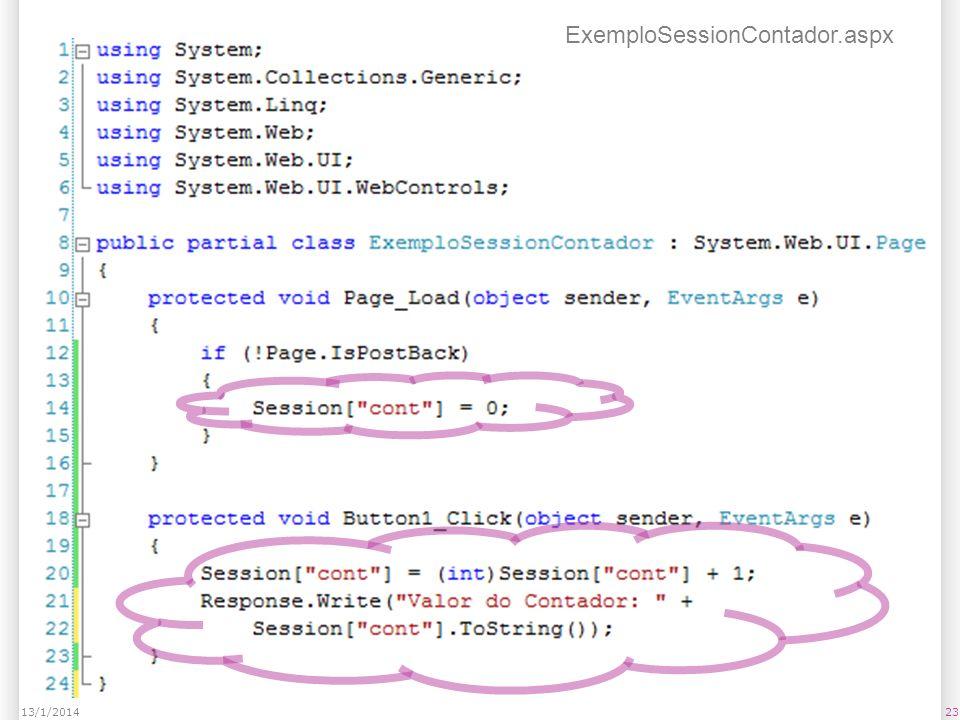 2313/1/2014 ExemploSessionContador.aspx