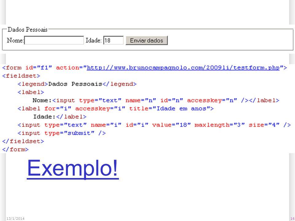 1613/1/2014 Exemplo!