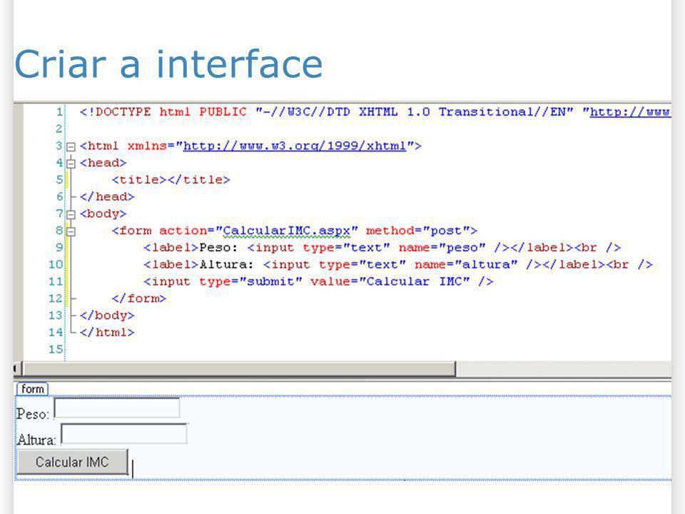 Criar a interface