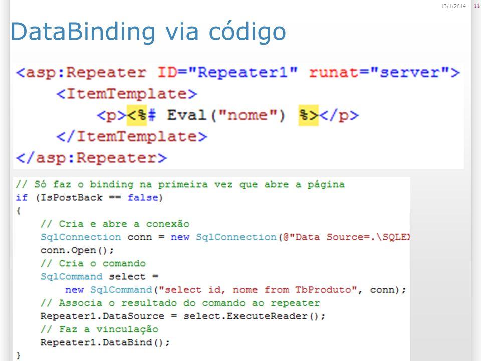 DataBinding via código 11 13/1/2014