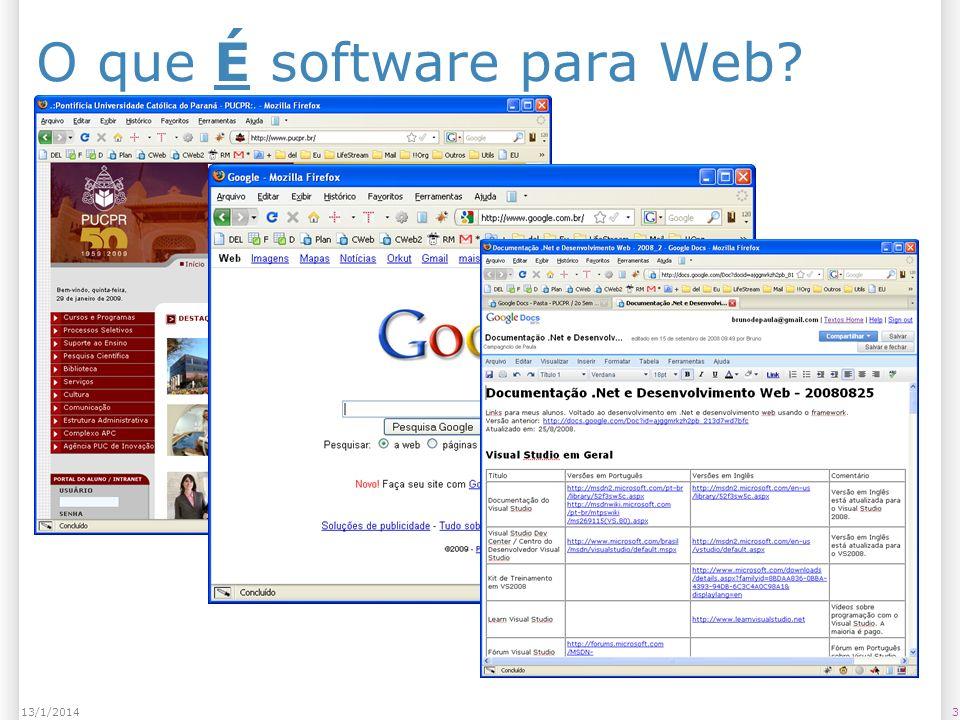 313/1/2014 O que É software para Web