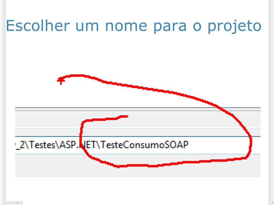 Criar a interface de acesso ao serviço 813/1/2014