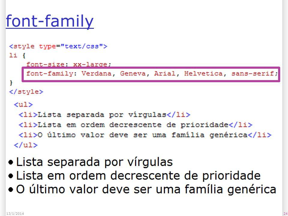 2413/1/2014 font-family