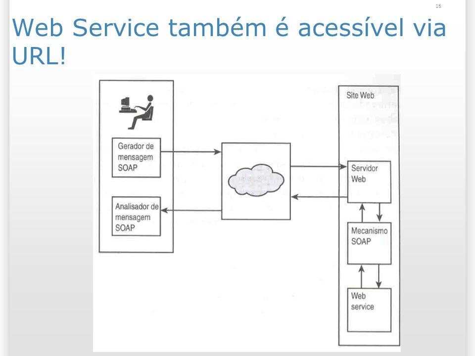 Web Service também é acessível via URL! 16