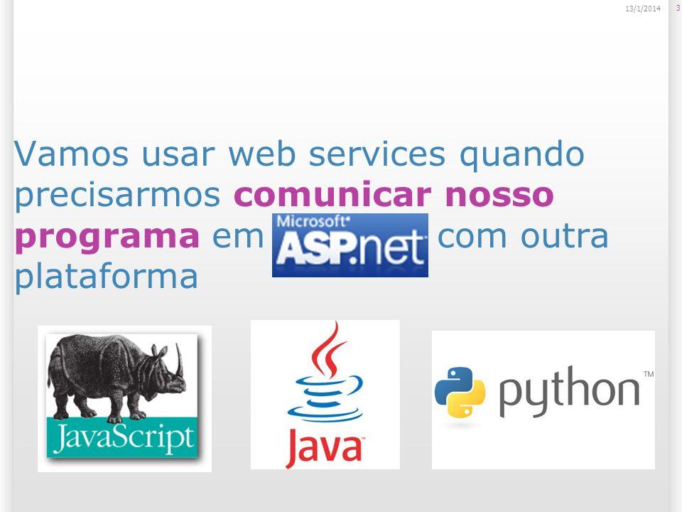 Cenário de motivação para uso de web services