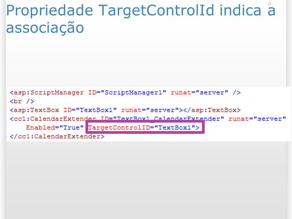 Propriedade TargetControlId indica a associação 13