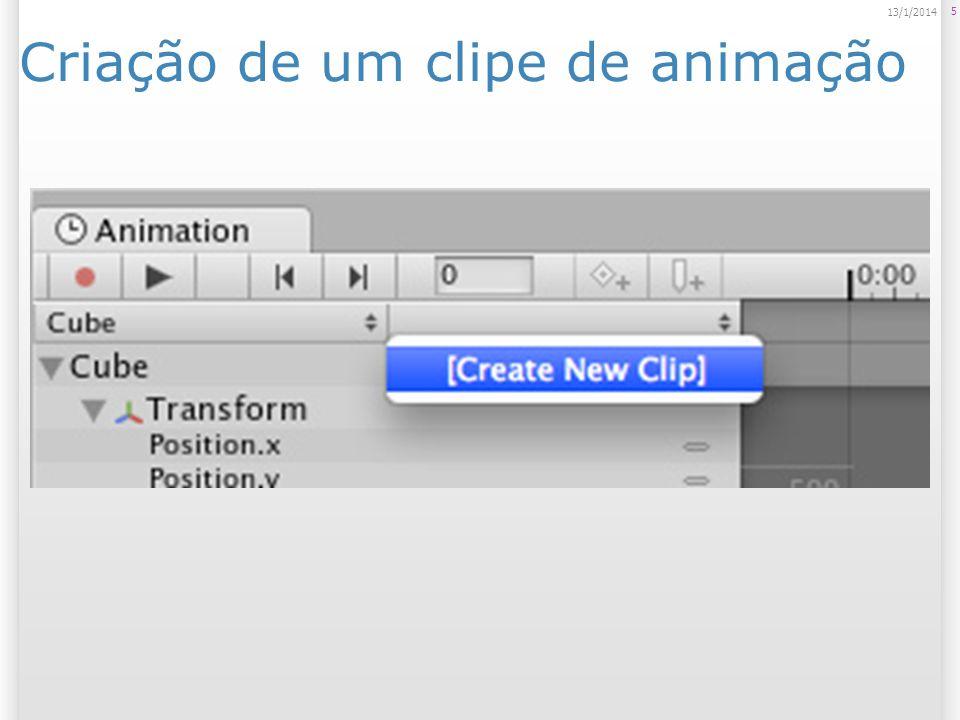 Criação de um clipe de animação 5 13/1/2014