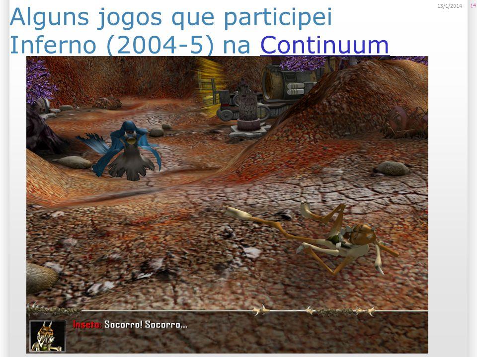 Alguns jogos que participei Inferno (2004-5) na ContinuumContinuum 14 13/1/2014