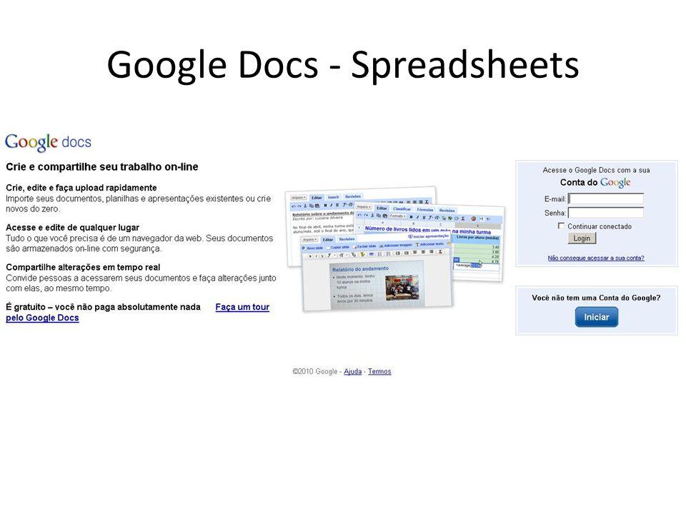 Google Docs - Spreadsheets