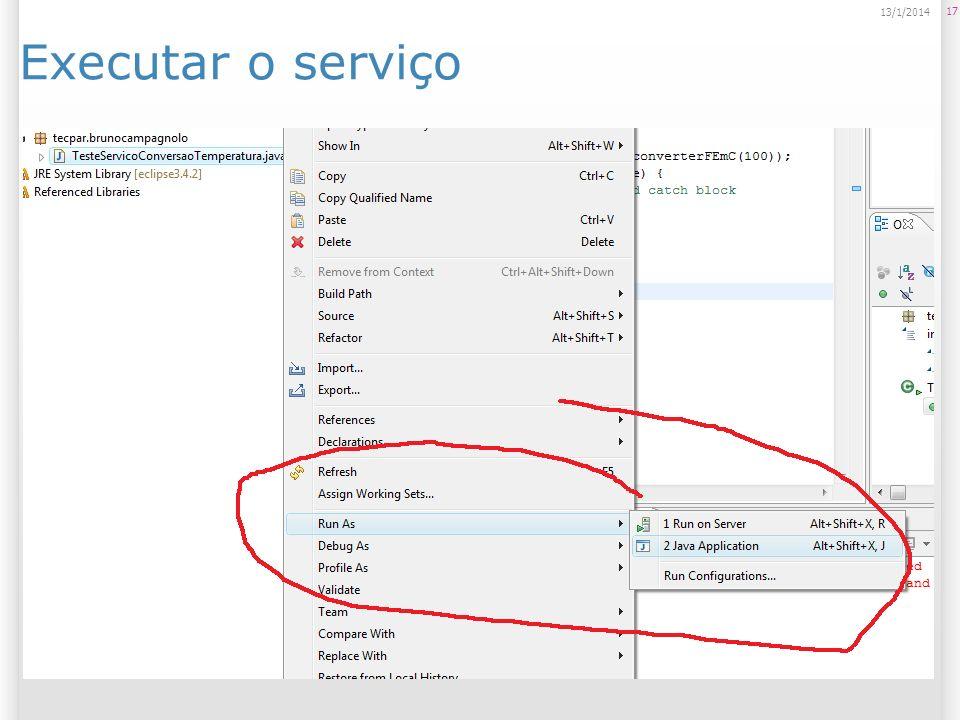 Executar o serviço 17 13/1/2014